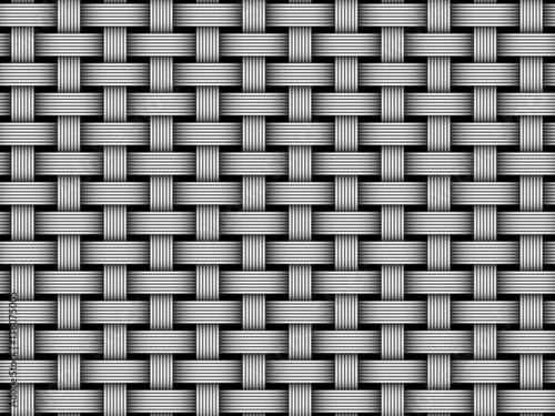 Fotografiet  Vector woven fiber seamless pattern