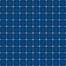 Solar Cells Seamless Pattern For Roof Solar Power Panel Design.
