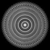 Okrągły element spiralny. Streszczenie element geometryczny okrąg. - 136080661