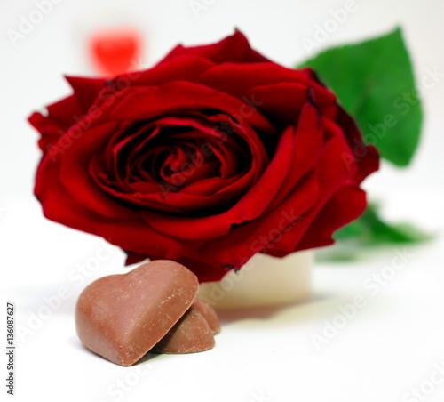 Fotomural  rose e cuore