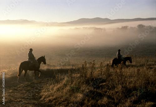 Fotografía  caballos y gauchos