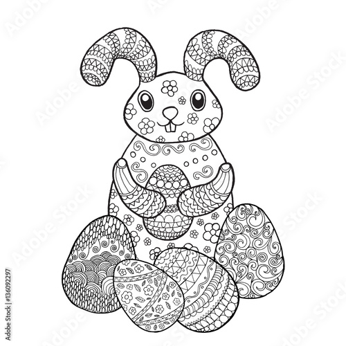 Easter bunny rabbit coloring page – kaufen Sie diese ...