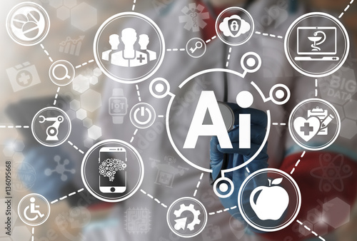 Photo AI IT iot medicine integration automation computer health care web big data concept