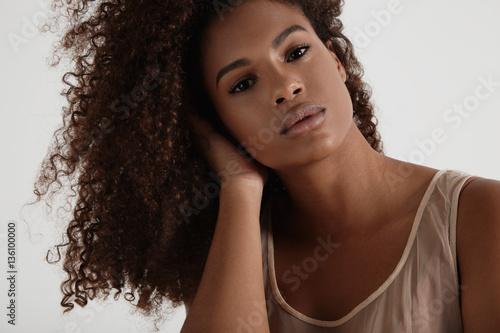 young pretty black woman's portrait Poster