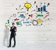Successful entrepreneur concept