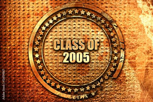 Fotografia  class of 2005, 3D rendering, text on metal