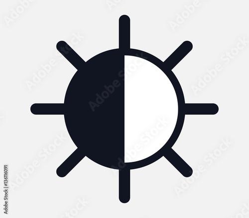 Stampa su Tela icon brightness and contrast