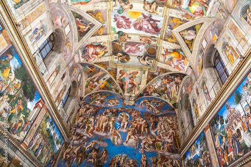 plakat Sistine chapel in Vatican