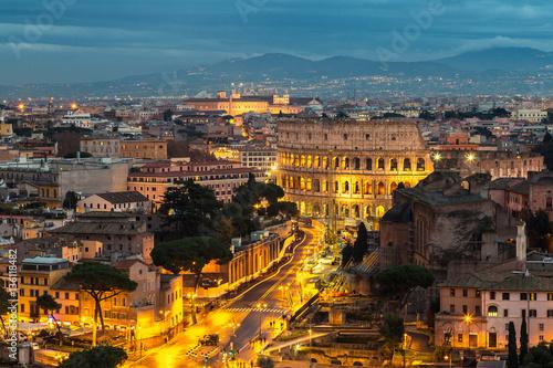 Fototapeta  Colosseum at night in Rome
