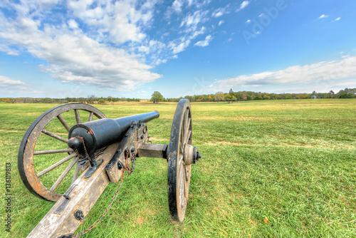 Fotografie, Obraz  Old cannon in Manassas National Battlefield Park in Virginia