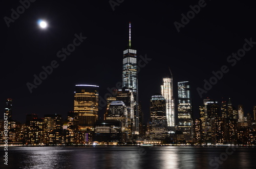 Manhattan skyline at night, NYC, USA. Poster