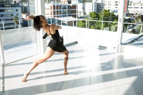 Portrait of dancer practicing contemporary dance