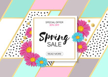 Spring Sale Design With Colorf...