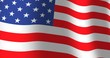 American flag of the United States of America or the USA with fabric texture. Smooth motion of waving flag which is loopable.