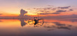 Sunrise at Sanur Beach Bali, Indonesia with traditional balinese jukung boat