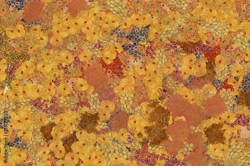Fototapeta Wide abstract background in Gustav Klimt style