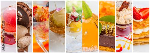 Fotobehang Dessert assemblage de desserts
