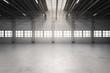 canvas print picture - empty factory interior