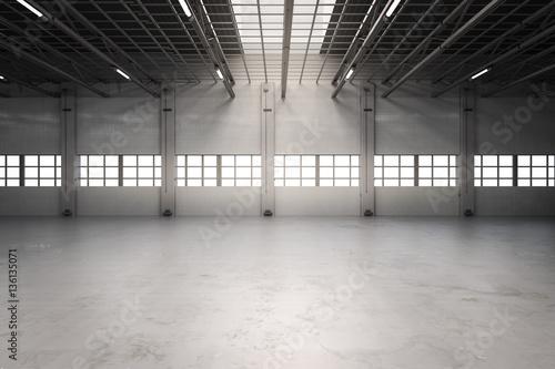 Fotografia empty factory interior