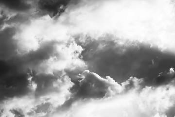 Fototapeta Czarno-Biały Bright Light and Storm clouds gathering.Black and White background.