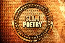Slam Poetry, 3D Rendering, Text On Metal