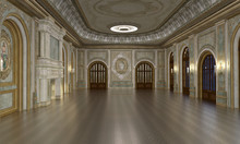 3d Render Of Luxury Grand Hall...