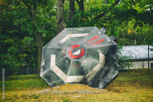 Foto op Canvas UFO A crashed flying saucer UFO.