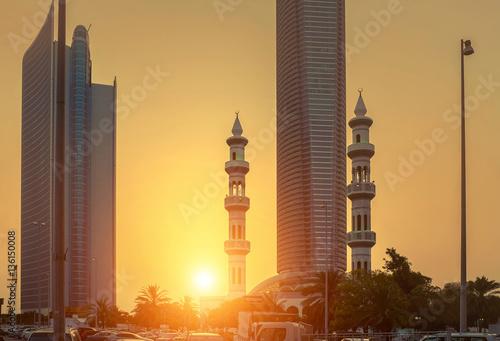 Poster Abou Dabi Sunset view on Abu Dhabi dountown