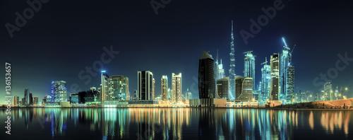 Tuinposter Dubai Business bay of Dubai, UAE