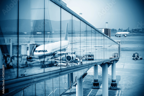 Foto op Aluminium Luchthaven Busy airport pictures
