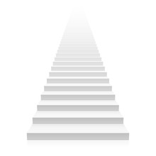 White Straight Staircase Stretches To Infinity