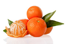 Clementines Isolated On White ...