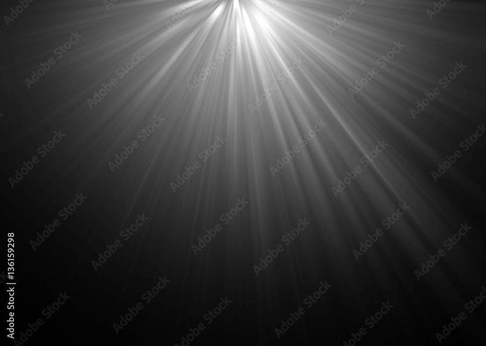 Fototapety, obrazy: abstract beautiful rays of light on black background.