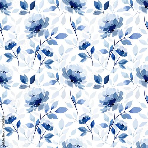 wzor-z-niebieskim-kwiatem-rozy