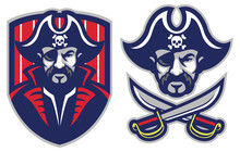 One Eye Pirate Mascot