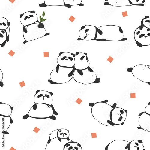 bezszwowy-wzor-z-wizerunkiem-pandy-i-kolorowy-rhombus-ilustracji-wektorowych