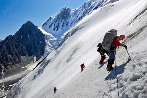 Poster de jardin Alpinisme Mountain climbers