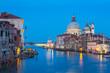 Night at Venice city canal skyline in Venice Italy