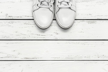 White leather gumshoes