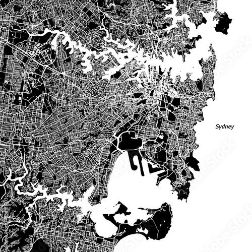 Sydney Vector Map Wallpaper Mural