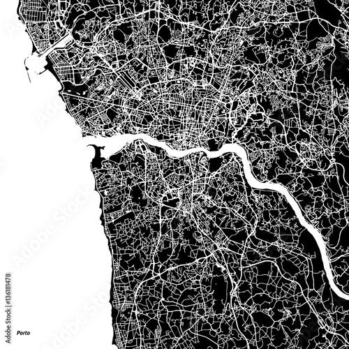 Mapa wektorowa Porto