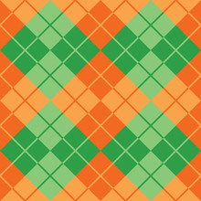 Argyle Seamless Pattern In Gre...