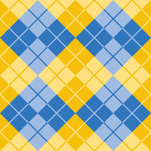 Argyle Pattern In Yellow And B...