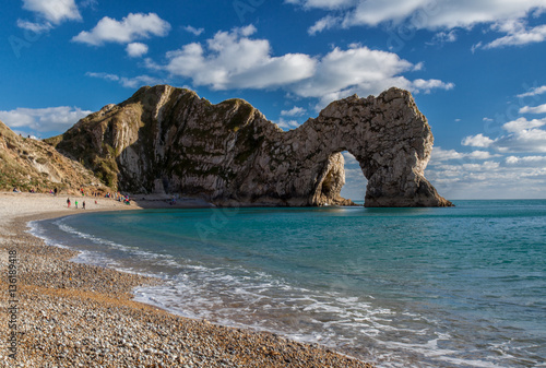 Fotografiet Durdle Door rock formations, Dorset, England