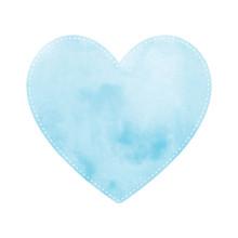 Blue Heart On White Background