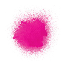 Pink Spray Paint On White Background
