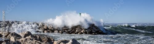 Marseille tempête mistral port de la Madrague Canvas Print