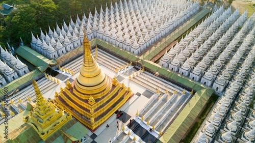 Valokuva  Aerial view of Kuthodaw Pagoda in Myanmar