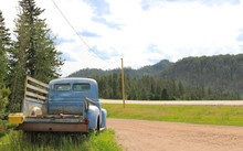 Old Rusty Pickup By The Road
