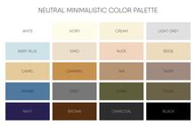 Minimalistic Color Palette Chart Vector